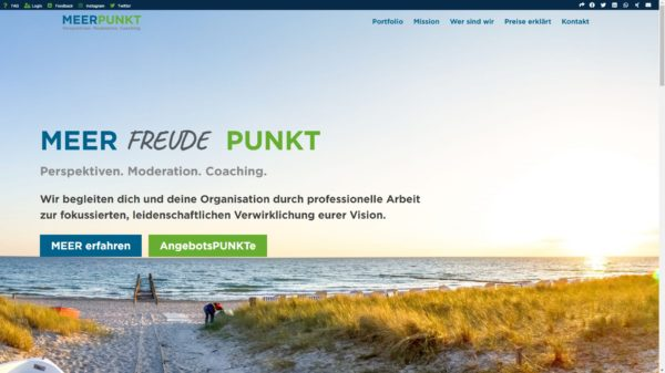 Meerpunkt Website
